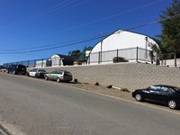 2000 sq.ft. Allan Block Retaining Wall for Tofino Storage and Warehousing Ltd. on Industrial Way, Tofino, BC.