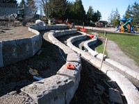 Tofino Retaining Wall - During Construction